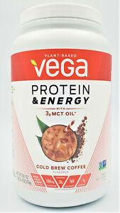 Vega Protein & Energy, Cold Brew Coffee, MCT Oil, Gluten Free, Dairy Free, Keto.