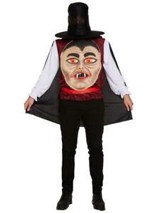 Mens Halloween Costumes. Big Head Cost Pumpkin Head, Vampire Head. Fancy Dress