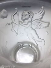 Vintage French Art Glass Cupid Vase Valentines Day Hearts