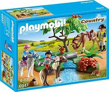 PLAYMOBIL 6947 paese in groppa a cavalcare giocattolo