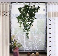 STORE ROULANT 140X120 déco fenêtre voile pliable rideau plissée blanc
