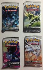 Pokemon Factory Sealed Unopened Booster Packs Black & White All 4 Pack Arts