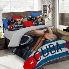 Parure copripiumino Cuba stampa digitale HD Matrimoniale due piazze P290