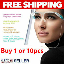 Face Shield GLASSES Mask Protector Anti Fog Safety Reusable Saliva Prevention