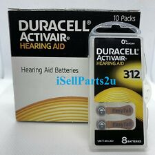 New Duracell Hearing Aid Batteries Size 312 Fast shipping Choose from 4 to 240