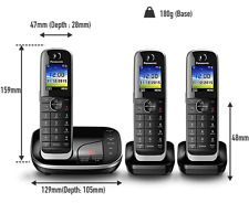 Panasonic KX-TGJ323EB 3 Pack Cordless Home Phone Answer Machine DECT Handsets