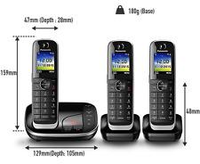 Panasonic KX-TGJ323EB 3 Pack Cordless Home Phone Answer Machine DECT Handsets