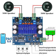 Wireless Bluetooth50 Tpa3116d2 Digital Power Amplifier Board 2x50w Stereo Audio