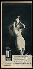 1962 Treo lingerie bra spandex Lycra girdle woman photo print ad