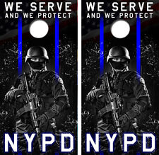 NYPD Cornhole Board Wraps FREE LAMINATION #3299