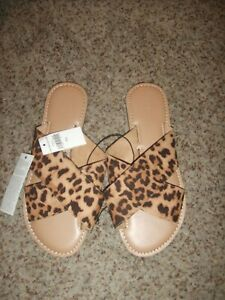 Banana Republic Cheetah Leopard Slip On Sandal/Flats Shoes 7.5 New with tags