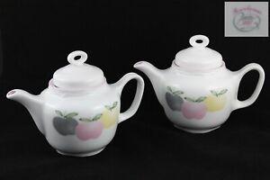 Set Teapot & Milk Jug Of Porcelain Sanbo Valencia España. Years 80 Vintage