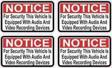 2.5x1.5 Red Notice Audio and Video Recording Stickers Car Truck Bumper Decal