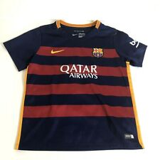 Qatar Airways Nike Soccer Striped Jersey Kids Youth 7-8
