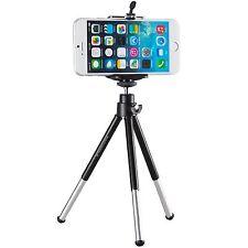 Stativ für Apple iPhone 5 5S 5C 6 Ständer Halterung Tripod Metall Foto schwarz