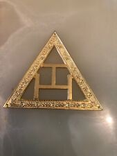 Vintage Masonic Metal Triangle Badge
