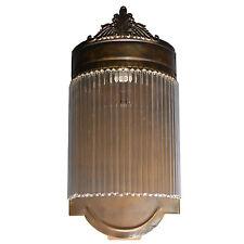 Wandleuchter Wandlampe Glas Messing Jugendstil Lampe Art Deco Glamour Antik