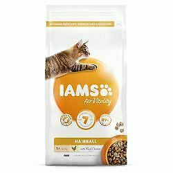 IAMS for Vitality Hairball Cat Food with Fresh chicken - 800g - 446050