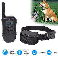 Electric Dog 300 Meters Waterproof Pet trainer Collar With LCD Beep Vibration