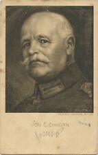 General Von Eichhorn 1917 German Military WW1 Postcard (744)