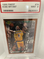 🔥1996 Topps Finest #74 Kobe Bryant PSA 9 MINT Rookie Card Lakers HOF Lakers 🏀