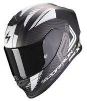 Casco Moto Scorpion Exo R1 air halley nero opaco bianco taglia S