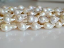 8x10-12x18mml Natural White Teardrop Limited Edison Baroque Pearl Beads #276