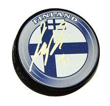 KARRI RAMO Signed FINLAND FLAG HOCKEY PUCK AUTOGRAPH! 1004693