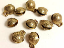 10 brass Jingle Bells from Nepal, Vintage handmade charm Supply Windchime