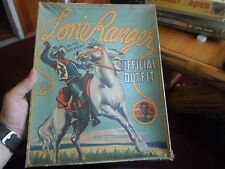 1938  Lone Ranger Official outfit with box. Holster & Gun & Bond Bread Card RARE