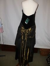 VINTAGE LAURA ASHLEY   COTTON VELVET  DRESS -FITS MODERN DAY - SIZE UK 10/12