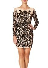 BNWT Forever Unique Hollies Heavily Embellished Illusion Shift Dress UK8 RP £450