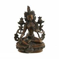 Soprammobile Tibetano Tara Bianco Seduta Divinità Buddista 22 CM 2KG100 7002