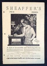 1920 Vintage Art Deco Magazine Ad ~ Sheaffer's Pen ~ a/s Coles Phillips