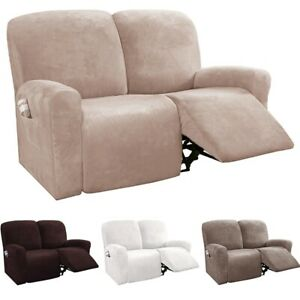 1/2/3 Seater Recliner Chair Cover Armchair Sofa Slipcover Home Couch Protector