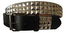 Saum Men's Silver Metal Tiles Belt Black