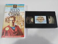 JULIO CESAR WILLIAM SHAKESPEARE MARLON BRANDO MANKIEWICZ VHS CINTA CASTELLANO
