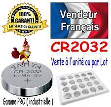 Piles CR2032 VARTA Lithium 3V - Vente x1 ou par Lot ( dispo aussi LR6 et LR03 )