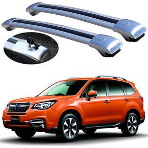 2Pcs Lockable roof crossbars cross bar Rack fits for Subaru Forester 2014-2018