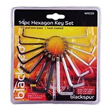 Blackspur Hexagon Allen Key Set - Hex Allan Keys Loose Alan Imperial 116 564