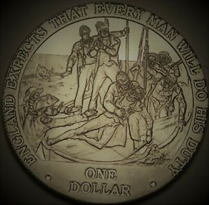 Cook Islands Dollar, 2007 Gem Unc~England Expects That Every Man Do His Duty~FS