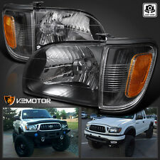 2001-2004 Toyota Tacoma Black Headlights+Signal Corner Parking Lamps Lights