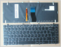 NEW FOR Clevo W230SS W230ST W230SD NP7339 Keyboard with Frame  backlit  UK
