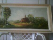 Pintura al óleo enmarcado Vintage Grande 35 X 20 in (approx. 50.80 cm)