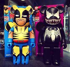 Medicom Be@rbrick Marvel 400% X-Men WolveRine & Spiderman Venom Bearbrick Set 2P