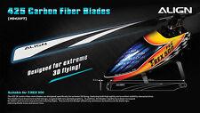 Align HD420F 425 Carbon Fiber Blades- Black Trex 500E DFC/PRO