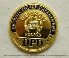 DETROIT POLICE DEPARTMENT Challenge Coin Motor City Motown Officer Agent