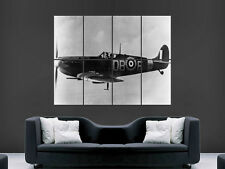 SPITFIRE AEROPLANE CLASSIC WORLD WAR 2 II LARGE PICTURE POSTER GIANT HUGE