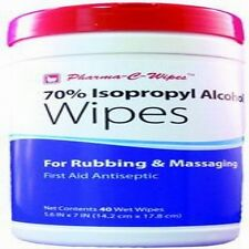 ISG CUS200736 Pre-Moistened One 70% Isopropyl Alcohol First Aid Rubbing Wipes