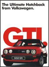 VW Ultimate GOLF GTi Advertising Poster NEW Volkswagen Mk2 16v 8v print A1 HUGE